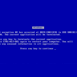 Cover of track Be sceard of BSOD by KrisT