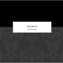 Cover of track Abstract by nicholas01