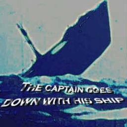 Cover of track The Captain goes down with his Ship by frogman