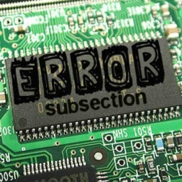 Cover of track error by subsection