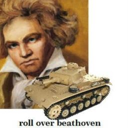 Cover of track roll over beathoven by fontana