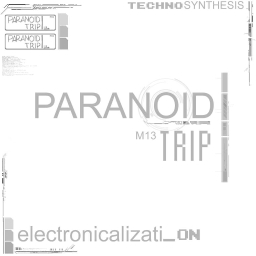 Cover of track Gloomy Robotic Town by PARANOID TRIP