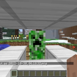 Cover of track creeper on fire then exploding a zombie by minecraftidiot