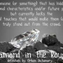 Cover of track Diamonds in the rough by Audio M.D.