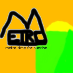 Cover of track time for sunrise by metro