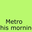 Cover of track This morning by metro