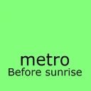 Cover of track Before sunrise by metro