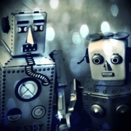 Cover of track Two robots talking about their artificial emotions by Joa Ebert