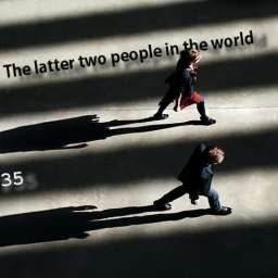 Cover of track The latter two people in the world by P35