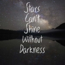 Cover of track stars can't shine without darkness by dansaapje