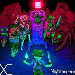 Cover of track Xexeon - Nightmares by Distorted Vortex